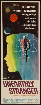 "Unearthly Stranger (American International, 1963). Insert (14"" X 36""). Science Fiction"