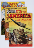 Golden Age (1938-1955):War, Golden Age Air Hero Related First Issue Group (Various Publishers, 1940s) Condition: Average VG/FN.... (Total: 9 Comic Books)