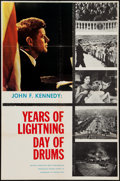 "Movie Posters:Documentary, John F. Kennedy: Years of Lightning, Day of Drums (Embassy, 1965). One Sheet (27"" X 41""). Documentary.. ..."