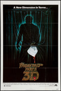 "Movie Posters:Horror, Friday the 13th Part 3 (Paramount, 1982). One Sheet (27"" X 41"") 3-D. Horror.. ..."