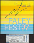 """Movie Posters:Science Fiction, George Lucas at Paley Fest (Museum of Television & Radio,2007). Autographed Program (36 Pages, 8"""" X 8""""), EventAdvertisemen... (Total: 4 Items)"""