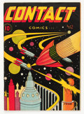 Golden Age (1938-1955):Science Fiction, Contact Comics #12 (Aviation Press, 1946) Condition: VG....