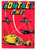 Golden Age (1938-1955):War, Contact Comics #4 (Aviation Press, 1945) Condition: ApparentFN-....