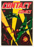 Golden Age (1938-1955):War, Contact Comics #3 (Aviation Press, 1944) Condition: VG....