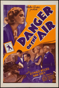 "Danger on the Air (Walter Futter, R-1942). One Sheet (27"" X 41""). Mystery"