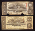 Confederate Notes:1863 Issues, T58 $20 1863;. T59 $10 1863.. ... (Total: 2 notes)