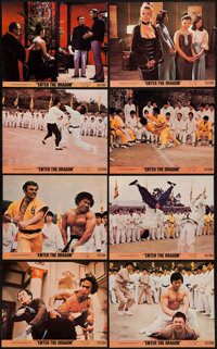 """Enter the Dragon (Warner Brothers, 1973). Mini Lobby Card Set of 8 (8"""" X 10""""). Action. ... (Total: 8 Items)"""