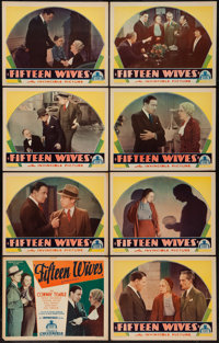 "Fifteen Wives (Chesterfield, 1934). Lobby Card Set of 8 (11"" X 14""). Mystery. ... (Total: 8 Items)"