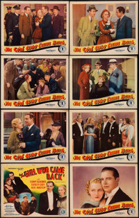 """The Girl Who Came Back (Chesterfield, 1935). Lobby Card Set of 8 (11"""" X 14""""). Crime. ... (Total: 8 Items)"""