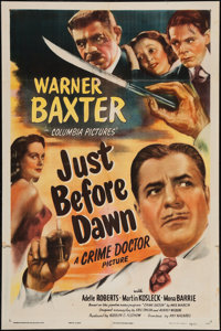 "Just before Dawn (Columbia, 1946). One Sheet (27"" X 41""). Mystery"