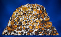 Meteorites:Palasites, IMILAC METEORITE - PARTIAL SLICE WITH EXTRATERRESTRIAL GEMSTONESAND EXCEPTIONAL EARTHLY PROVENANCE. Pallasite - PMG....