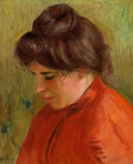 Paintings, PIERRE-AUGUSTE RENOIR (French, 1841-1919). Gabrielle en Rouge, 1903. Oil on canvas. 16 x 13 inches (40.6 x 33.0 cm). Sig...