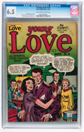 Golden Age (1938-1955):Romance, Young Love #19 (Prize, 1951) CGC FN+ 6.5 Cream to off-whitepages....