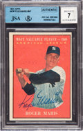 Autographs:Sports Cards, Signed 1961 Topps Roger Maris MVP #478 BGS 7 Autograph, JSAAuthentic. ...