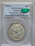 Commemorative Silver: , 1938-D 50C Arkansas MS63 PCGS. CAC. Ex: Teich Family Collection.PCGS Population (140/634). NGC Census: (63/437). Mintage: ...
