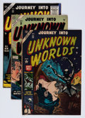 Golden Age (1938-1955):Horror, Journey Into Unknown Worlds Group (Atlas, 1954-55) Condition:Average VG.... (Total: 5 Comic Books)
