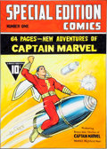 Original Comic Art:Covers, Joe Simon Overstreet Comic Book Price Guide #34 Special Edition Comics #1/Captain Marvel Cover Original Art (Overs... (Total: 2 Items)