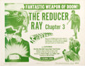 """Memorabilia:Poster, Superman Serial Chapter Three """"The Reducer Ray"""" Lobby Card(Columbia, 1948)...."""