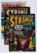Golden Age (1938-1955):Science Fiction, Strange Tales #16, 25, and 42 Group (Atlas, 1953-56) Condition: Average VG.... (Total: 3 Comic Books)