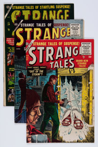Strange Tales #24, 36, and 37 Group (Atlas, 1954-55) Condition: Average FN+.... (Total: 3 Comic Books)