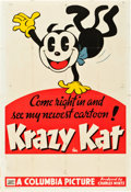 "Movie Posters:Animation, Krazy Kat (Columbia, 1934). Stock One Sheet (27"" X 41"").. ..."