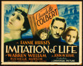 "Movie Posters:Drama, Imitation of Life (Universal, 1934). Title Lobby Card (11"" X 14"").. ..."