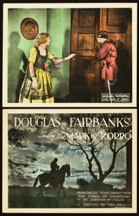 """The Mark of Zorro (United Artists, 1920). Title Lobby Card and Lobby Card (11"""" X 14""""). From the Leonard and Al..."""