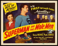 """Superman and the Mole Men (Lippert, 1951). Title Lobby Card (11"""" X 14""""). From the Leonard and Alice Maltin Col..."""