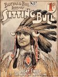 Original Comic Art:Covers, Buffalo Bill Library #32 Sitting Bull Cover Original Art(1912)....