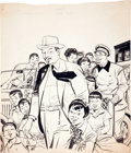 Original Comic Art:Covers, Dan Barry Charlie Chan Cover Original Art (undated)....
