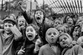 Photographs, ALFRED EISENSTAEDT (American, 1898-1995). Children at a Puppet Theater, Paris, 1963. Gelatin silver, 1989. 13-3/4 x 20-3...