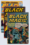 Golden Age (1938-1955):Horror, Black Magic Group (Prize, 1953-58) Condition: Average VG....(Total: 4 Comic Books)