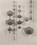 Photographs:20th Century, IMOGEN CUNNINGHAM (American, 1883-1976). Ruth Asawa's WireBaskets and Their Shadows, 1956. Vintage gelatin silver.9-1/...