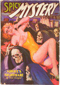 Pulps:Horror, Spicy Mystery Stories - March '36 (Culture, 1936) Condition: VG....