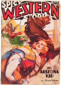 Pulps:Western, Spicy Western Stories - November '36 Uncensored Cover Variant (Culture, 1936) Condition: VG....