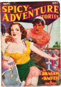 Pulps:Adventure, Spicy Adventure Stories - September '36 (Culture, 1936) Condition: VG....