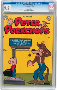 Peter Porkchops #1 (DC, 1949) CGC NM- 9.2 White pages