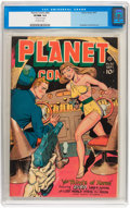 Golden Age (1938-1955):Science Fiction, Planet Comics #50 (Fiction House, 1947) CGC VF/NM 9.0 Off-whitepages....