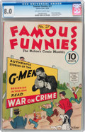 Platinum Age (1897-1937):Miscellaneous, Famous Funnies #27 (Eastern Color, 1936) CGC VF 8.0 Off-white towhite pages....