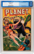 Golden Age (1938-1955):Science Fiction, Planet Comics #42 (Fiction House, 1946) CGC VF/NM 9.0 Cream tooff-white pages....