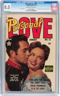 Golden Age (1938-1955):Romance, Personal Love #25 (Famous Funnies, 1954) CGC VF+ 8.5 Off-white to white pages....