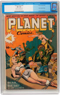 Golden Age (1938-1955):Science Fiction, Planet Comics #26 (Fiction House, 1943) CGC VF+ 8.5 Cream tooff-white pages....