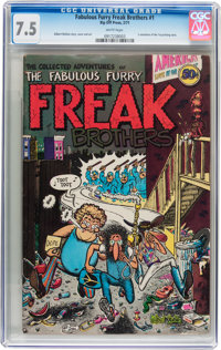 The Fabulous Furry Freak Brothers #1 First Printing (Rip Off Press, 1971) CGC VF- 7.5 White pages