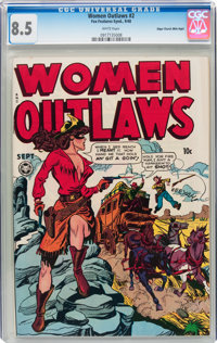 Women Outlaws #2 Mile High pedigree (Fox Features Syndicate, 1948) CGC VF+ 8.5 White pages