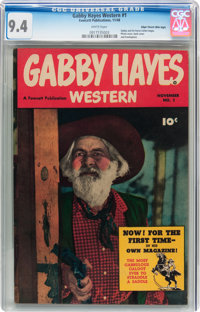 Gabby Hayes Western #1 Mile High pedigree (Fawcett Publications, 1948) CGC NM 9.4 White pages