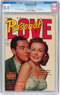 Golden Age (1938-1955):Romance, Personal Love #24 (Famous Funnies, 1953) CGC VF 8.0 Off-white towhite pages....