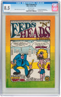 Silver Age (1956-1969):Alternative/Underground, Feds 'N Heads #1 First Printing (Print Mint, 1968) CGC VF+ 8.5Off-white pages....