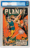 Golden Age (1938-1955):Science Fiction, Planet Comics #46 Rockford pedigree (Fiction House, 1947) CGC VF+8.5 Cream to off-white pages....