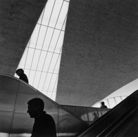 BURK UZZLE (American, b. 1938) Escalator I, New York, circa 1970 Gelatin silver, printed later 6-