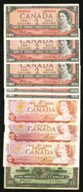 Canadian Currency: , An Assortment of Canadian Issues.. ... (Total: 9 notes)